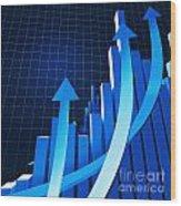Financial Chart Wood Print