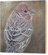 Finch Low Saturation Wood Print