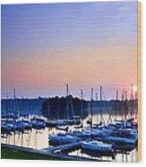 Fine Sailing Morning Coming Up Wood Print