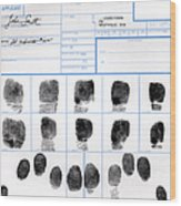Fingerprint Identification Application Wood Print