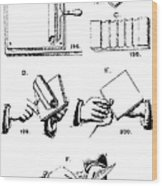 Fingerprinting Instructions, Circa 1900 Wood Print by Science Source