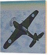 Finnish Morane-saulnier 406 In 1946 Wood Print