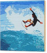 Fins Free Wood Print by Paul Topp