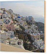 Fira In Santorini Wood Print