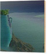 Fira View Santorini Greece Wood Print