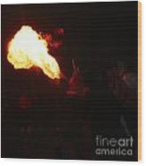 Fire Blower Wood Print