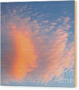 Fire Cloud And Aircraft Wood Print