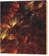 Fire-flowers Wood Print
