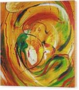 Fire In Love Wood Print
