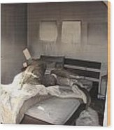 Fire In The Bed Wood Print