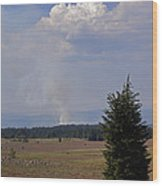 Fire In The Cascades Wood Print