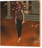 Fire Lady Wood Print by Stanley Morganstein