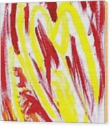 Fire Runner Wood Print