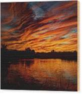 Fire Sky II  Wood Print
