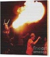Fire Stroke Wood Print