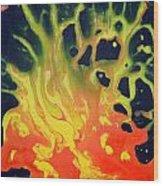 Fire Tree Wood Print