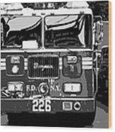 Fire Truck Bw6 Wood Print