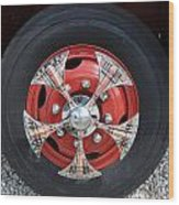 Fire Truck Spinners Wood Print