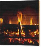 Fire Visions Wood Print