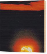 Fireball & Cloud After 1st Atomic Bomb Detonation Wood Print