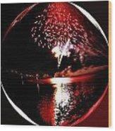 Fireball Lake Wood Print