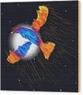 Firebird Wood Print