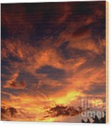 Fireclouds Wood Print