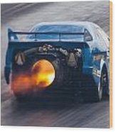 Fireforce Jet Funny Car Wood Print