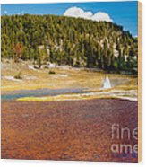Firehole Lake Wood Print