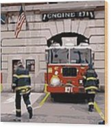 Firehouse Color 16 Wood Print