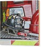 Fireman - Helmet Wood Print