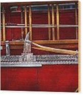 Fireman - Nice Axe  Wood Print by Mike Savad
