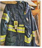 Fireman - Saftey Jacket Wood Print