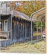 Fireman Cottage Wood Print