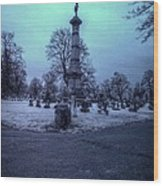 Firemans Monument Infrared Wood Print