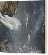 Fires And Smoke In Southeast Australia Wood Print