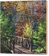 Fire's Creek Bridge Wood Print