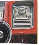 Firetruck Light And Horn Wood Print