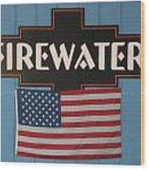 Firewater Wood Print