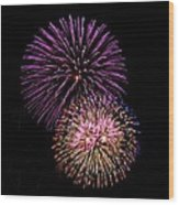 Firework Eyes Wood Print
