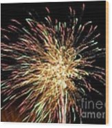 Firework Wood Print by Meandering Photography