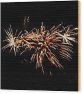 Firework Tails Wood Print