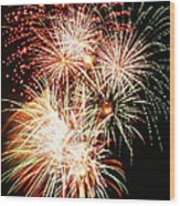 Fireworks 1569 Wood Print by Michael Peychich