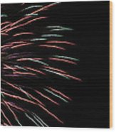 Fireworks Abstract 1 Wood Print