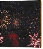 Fireworks At Oshkosh Airventure 2012. 01 Wood Print