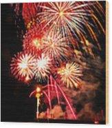 Fireworks Away Wood Print