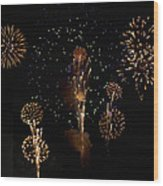 Fireworks Wood Print by Bill Cannon