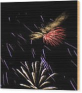 Fireworks Fun 2 Wood Print