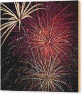 Fireworks Wood Print by Garry Gay