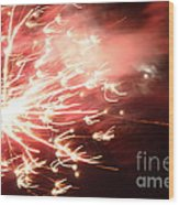 Fireworks In Texas 2 Wood Print
